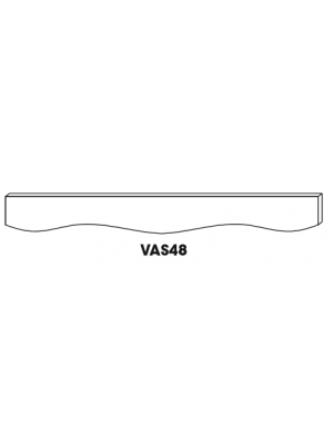 Small Image of VAS48 Ice White Shaker (AW) - Sculpture Valance