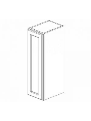 Small Image of W0936 Ice White Shaker (AW) - Single Door Wall Cabinet