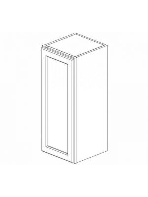 Small Image of W1236 Gramercy White (GW) - Single Door Wall Cabinet