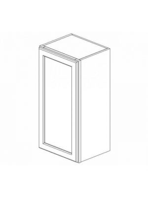 Small Image of W1542 Ice White Shaker (AW) - Single Door Wall Cabinet