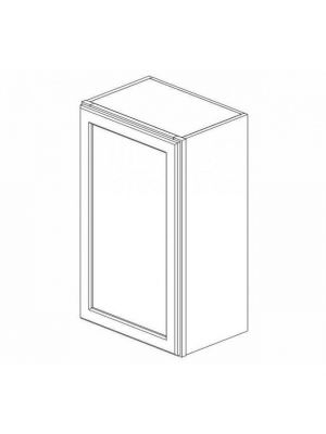 Small Image of W2136 Ice White Shaker (AW) - Single Door Wall Cabinet