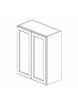 Small Image of W2442B Ice White Shaker (AW) - Double Door Wall Cabinet