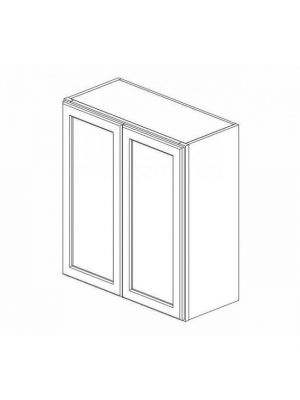 Small Image of W2736B Uptown White (TW) - Double Door Wall Cabinet