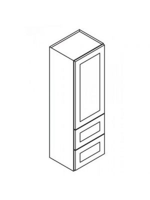 Small Image of W2D1860 Nova Light Grey Shaker (AN) - Wall Cabinet With 2 Built-In Drawers