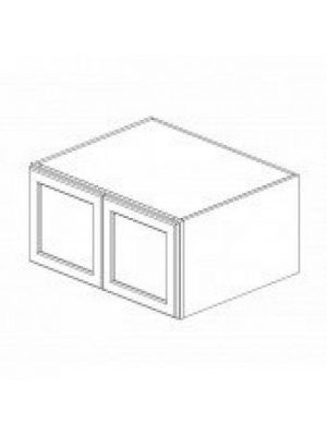 Small Image of W301824B Ice White Shaker (AW) - Wall Refrigerator Cabinet