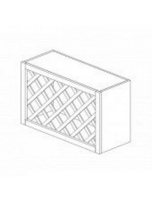 Small Image of W3018WR Gramercy White (GW) - Wine Rack Cabinet