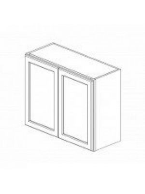 Small Image of W3024B Ice White Shaker (AW) - Double Door Wall Cabinet