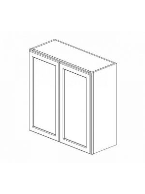 Small Image of W3042B Ice White Shaker (AW) - Double Door Wall Cabinet
