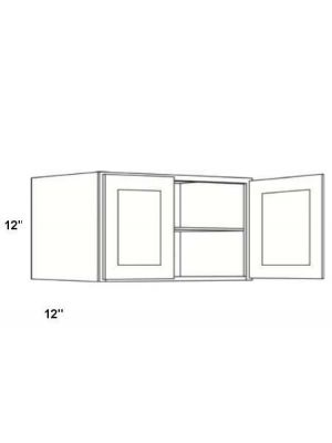 Small Image of W3312B Ice White Shaker (AW) - Double Door Wall Cabinet