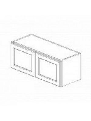 Small Image of W3318B Ice White Shaker (AW) - Double Door Wall Cabinet