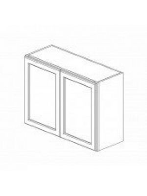 Small Image of W3324B Ice White Shaker (AW) - Double Door Wall Cabinet