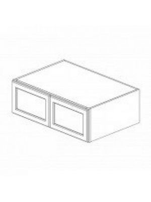 Small Image of W361524B Nova Light Grey Shaker (AN) - Wall Refrigerator Cabinet