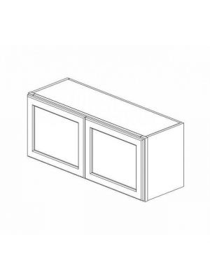 Small Image of W3615B Nova Light Grey Shaker (AN) - Double Door Wall Cabinet