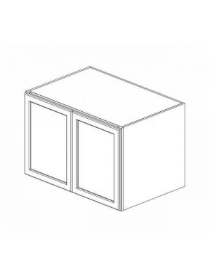 Small Image of W362424B Ice White Shaker (AW) - Wall Refrigerator Cabinet