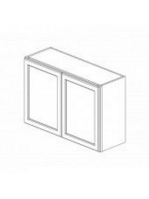 Small Image of W3624B Ice White Shaker (AW) - Double Door Wall Cabinet