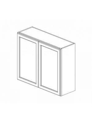 Small Image of W3636B Ice White Shaker (AW) - Double Door Wall Cabinet