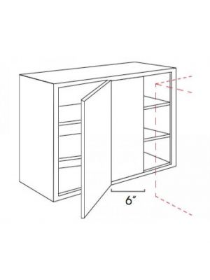 Small Image of WBLC30-33-3036 Ice White Shaker (AW) - Wall Blind Corner Cabinet