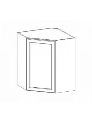 Small Image of WDC2430 Ice White Shaker (AW) - Wall Diagonal Corner Cabinet
