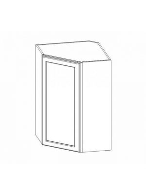 Small Image of WDC2436 Ice White Shaker (AW) - Wall Diagonal Corner Cabinet