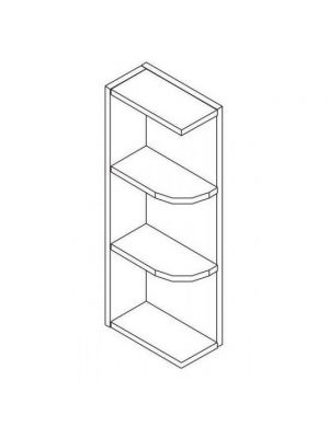 Small Image of WES536 Uptown White (TW) - Wall End Shelf with Open Shelves