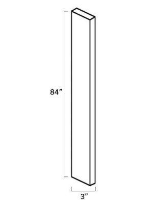 Small Image of WF384 Uptown White (TW) - Tall Wall Filler