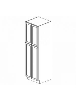 Small Image of WP2496B Ice White Shaker (AW) - Tall Wall Pantry Cabinet with Butt Doors