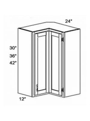 Small Image of WSQ2442 Ice White Shaker (AW) - Easy Reach Wall Corner Cabinet