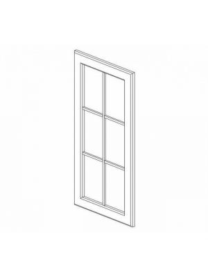 Small Image of W3036BGD Nova Light Grey Shaker (AN) - Wall Glas Door with No Mullion and with Clear Glass