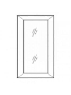 Small Image of W1530GD Uptown White (TW) - Wall Glas Door with No Mullion and with Clear Glass