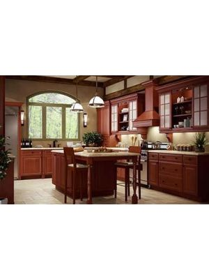Small Image of KM-K-Cinnamon-Glaze K-Cinnamon Glaze (KM) - 10x10 Kitchen Cabinets Collection Kit - RTA
