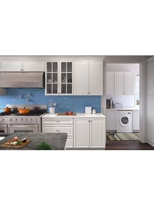 Small Image of KW-K-White K-White (KW) - 10x10 Kitchen Cabinets Collection Kit - RTA