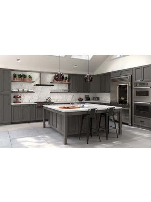 Small Image of TG-Midtown-Grey Midtown Grey (TG) - 10x10 Kitchen Cabinets Collection Kit - RTA