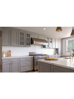 Small Image of AN-Nova-Light-Grey-Shaker Nova Light Grey Shaker (AN) - 10x10 Kitchen Cabinets Collection Kit - RTA