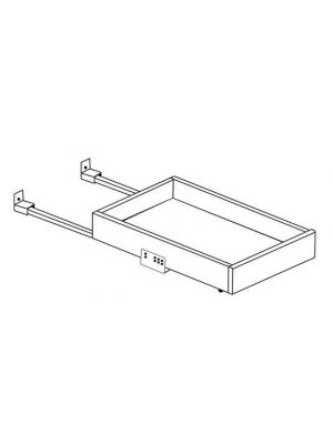 Small Image of 24RT-DR Nova Light Grey Shaker (AN) - Roll Out Tray with Dove Tail Drawer Box