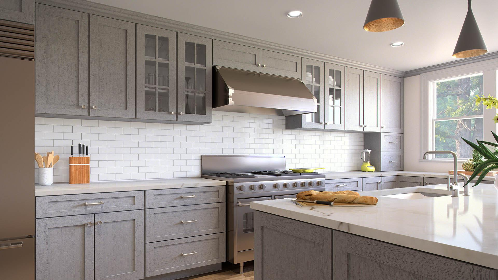 Nova Light Grey Shaker Kitchen Cabinets Album