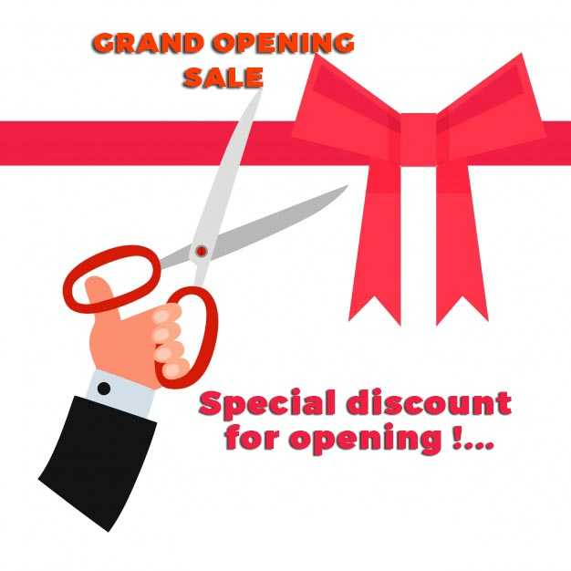 Grand Opening Sale Discounts